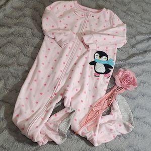 Carters footie zip up pajamas